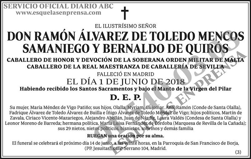 Ramón Álvarez de Toledo Mencos Samaniego y Bernaldo de Quirós